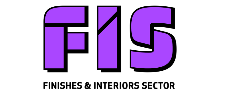 Finishes & Interiors Sector FIS rebrand logo – David Carroll & Co